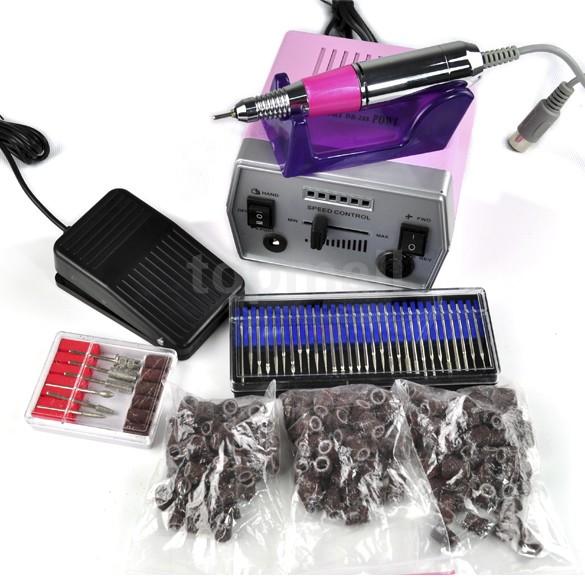 Big Discount! 1 PCS 3000 RPM Electric Nail Drill Machine Art Salon Manicure File Polish EU/US Plug 10(China (Mainland))
