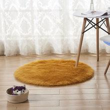 ใหม่สีชมพู Faux FUR ขนสัตว์ห้องนั่งเล่นโซฟาพรม Plush พรมฝาครอบห้องนอนที่นอน Xmas ประตูหน้าต่างพรมพรม(China)