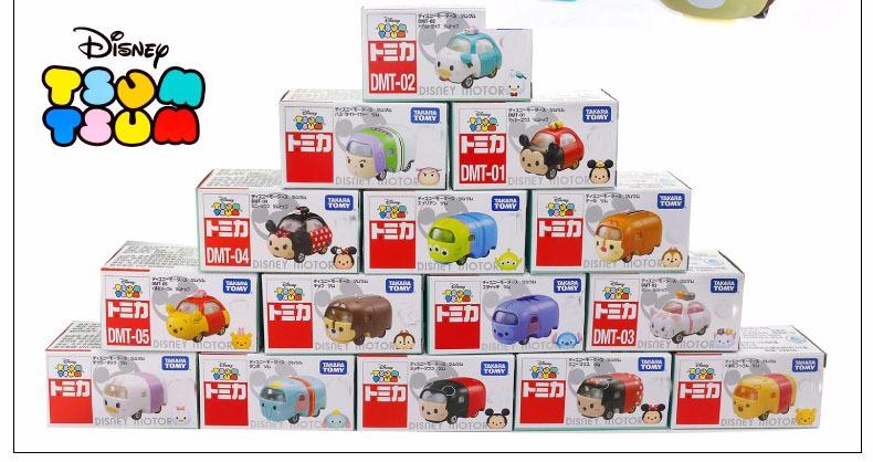 Free EMS 48PCS Tomica Tsum Tsum Diecasts Cartoon Vehicles Mickey Donald Duck Minnie Motors Tusm Tsum Wholesale