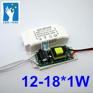 Гаджет  10pcs/lot.12-18*1W led driver  300mA  12W 15W 18W LED driver  isolated 300mA constant current power supply , free shipping. None Свет и освещение