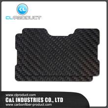 RFID double plate Credit Card Holder Slim Black Real Carbon Fiber Card Case Wallet(China (Mainland))