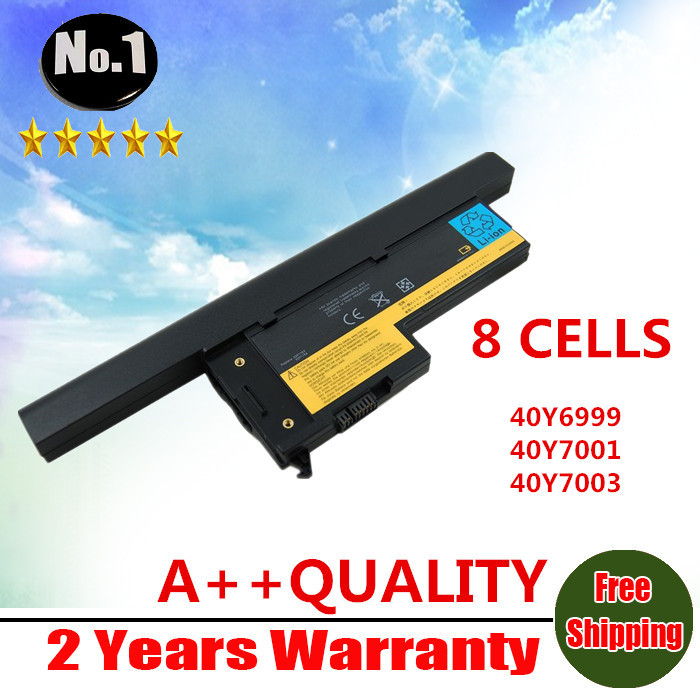 WHOLESALE NEW 8CELLS LAPTOP BATTERY FOR IBM LENOVO X60 X61 SeriesTHINKPAD X60S X61S 40Y6999 40Y7001 40Y7003 FREE SHIPPING(China (Mainland))