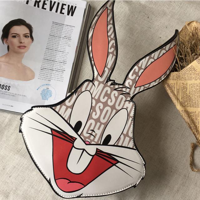 2016 новый бренд персонализировала письма кролик моделирование женская сумочка через тела сумка лоскут