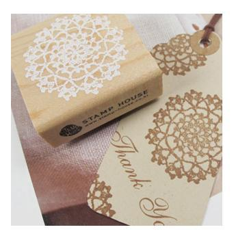 DIY Wooden Vintage Classic Lace Flower Decoration Stamps Scrapbooking Photo Album - I Love My Home & Family store