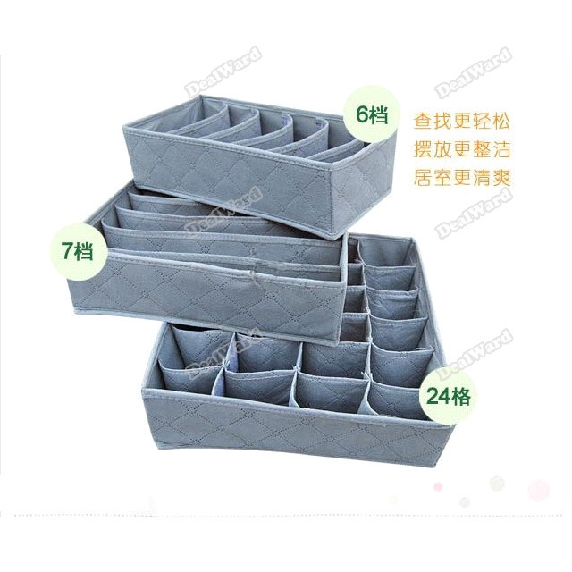 dealward Limited Sales! 6 7 20 Case Bamboo Charcoal Storage Organizer Box Bag Underwear Bra Sock Set 05 Top grade(China (Mainland))