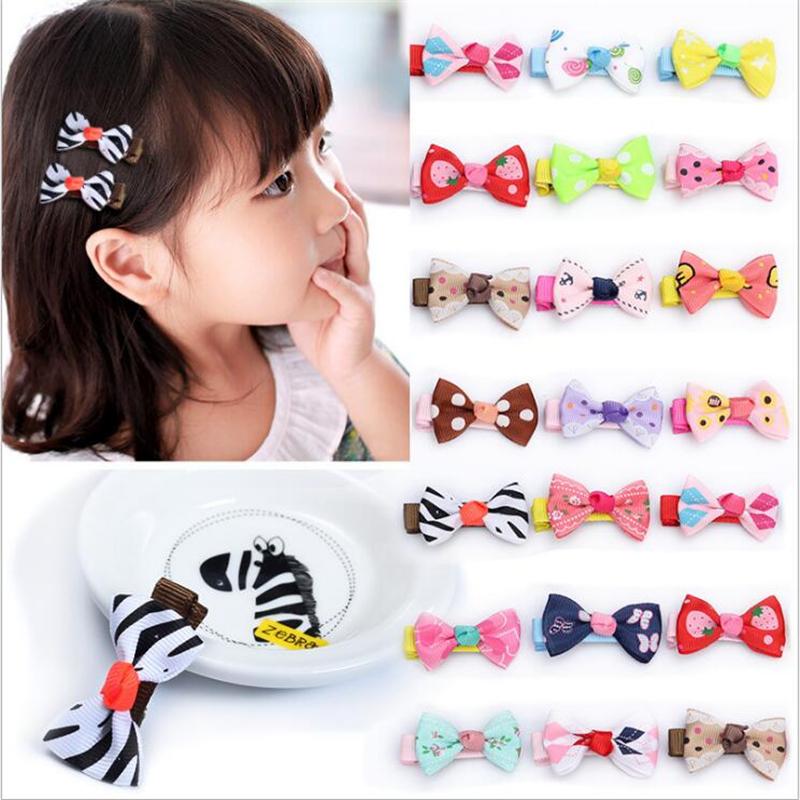 Fashion Bow Cute Hair Clip Girl Barrettes Kids Mini Pin Ribbon Hairpin hair Accessories Hair Clips Hairclip Tiara Dot Hairpins