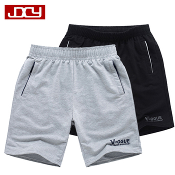 Man shorts summer 2016 new sports shorts knee-length male casual knitted breeched loose plus size
