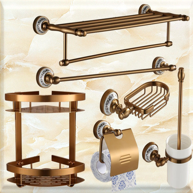 Beautiful Vintage Aluminum House Bathroom Hardware Bath Decorative Accessories