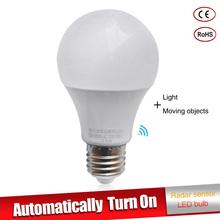 Buy LED Lamp E27 110v 220V Radar Motion Sensor LED Bulb SMD2835 led Light bulb 5W 7W 9W 12W 15W Cold White Lampada Led Bombillas for $2.73 in AliExpress store