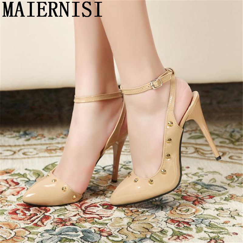 Big Size 35-43 Ladies Shoes Sexy High Heels Fashion Red Bottom Women Pumps Patchwork Pointed Stiletto Heels Designer Shoes Woman
