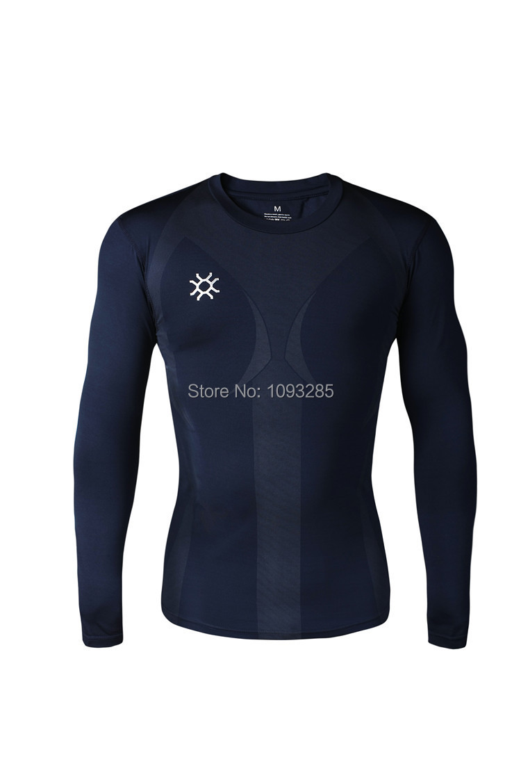 Long sleeves Men Tops fitness wear compression t shirt quick dry training sport tights exercise jersey gym clothing training(China (Mainland))