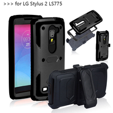 Buy Heavy Duty Hybrid Dual Layer Rugged Anti-strike Shockproof Armor Phone CASE LG LS775 G Stylo 2 K520 Cover belt clip for $5.59 in AliExpress store