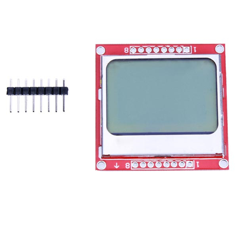 Hot New Smart Electronics LCD Module Display Monitor White Backlight Adapter PCB 84*48 84x84 for Nokia 5110 Screen for Arduino(China (Mainland))