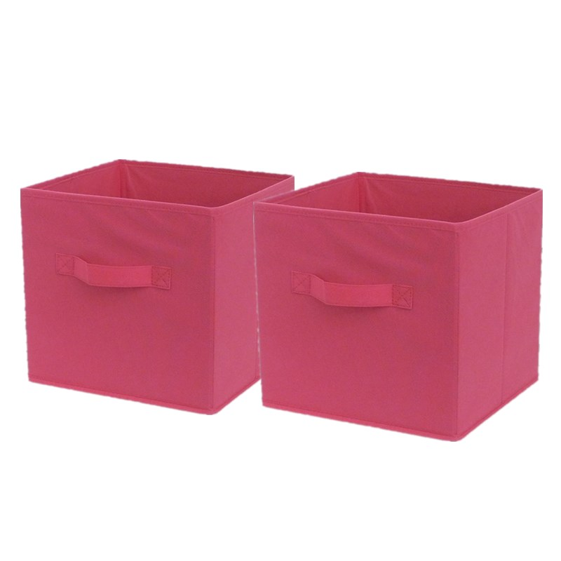 1 Pair 28*26*26cm Makeup Storage box Cube for Toys Office Organization Clothes Book Landry Storage Folding Non-woven Fabric(China (Mainland))