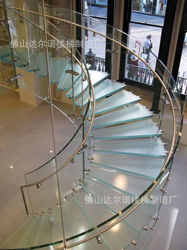 Villa stair railing wood staircase spiral staircase Spiral stair details