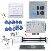 Completo RFID Door System Access Control Kit Set eléctrico de bloqueo magnético + alimentación de Control de acceso de proximidad puerta de entrada del teclado(China (Mainland))