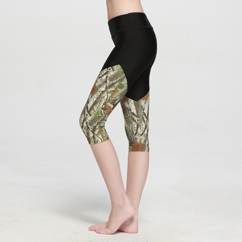 2016 New Fashion High Quality Patchwork Women Capris Skinny Sports Pants Gym Running Fitness Sports Capri Pants Women Leggins(China (Mainland))