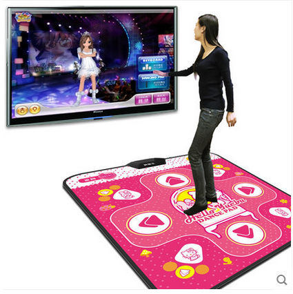 Fiber Zimei English TV computer dual Combo slimming magical Dance Dance Revolution dance mat with a hamster running game(China (Mainland))