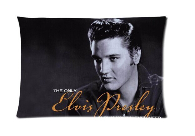 Cool Elvis Presley Music King Custom Zippered Rectangle Pillowcases Pillow Cover Cases Size 40x60cm Two sides