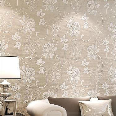 Modern fashion non woven floral flower 3d wallpaper for Living room wallpaper texture
