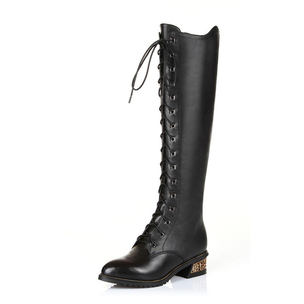 Black Women's Fashion Shoes Pu Leather Beautiful Heels ...