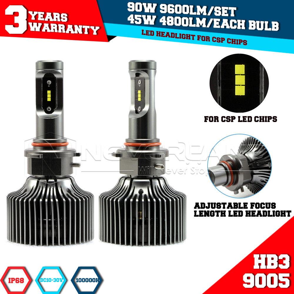 Super Bright 9005 HB3 P7 Led Car Headlight Conversion Kit Fog Lamp Bulb DRL 90W 9600LM 6000K 10V/30V DC Wholesale D15(China (Mainland))