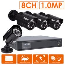 ZOSI 8CH CCTV System 8 Channel 720P DVR 4PCS 1200TVL IR Home Security Camera System Surveillance Kits(China (Mainland))