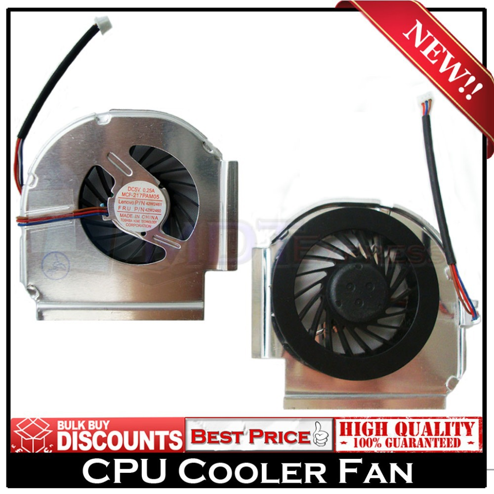 New! CPU Laptop Cooler Cooling Fan 3 Pins for IBM Lenovo Thinkpad T60 T60p T61 PN MCF-210PAM05 26R9434 41V9932 F0125(China (Mainland))