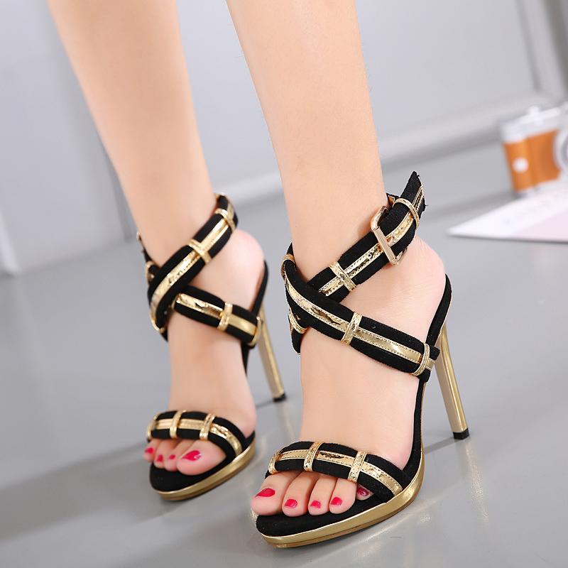 Online Get Cheap Black Strappy High Heel Sandals -Aliexpress.com