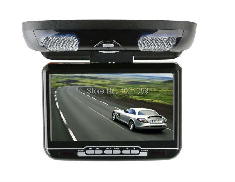Free shippipng 9inch car roof mount dvd player with USB/SD/IR/FM/wireless game black grey beige three color availaable(China (Mainland))
