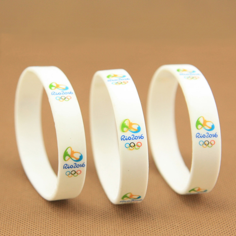 2016 New Design Rio DE janeiro Olympic Games Bracelet Sport Silicone Wristbands Rubber Bracelets Women Men Jewelry(China (Mainland))