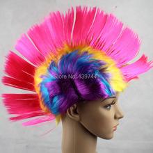 Cheap Punk Mohawk wigs for party 12pcs/lot