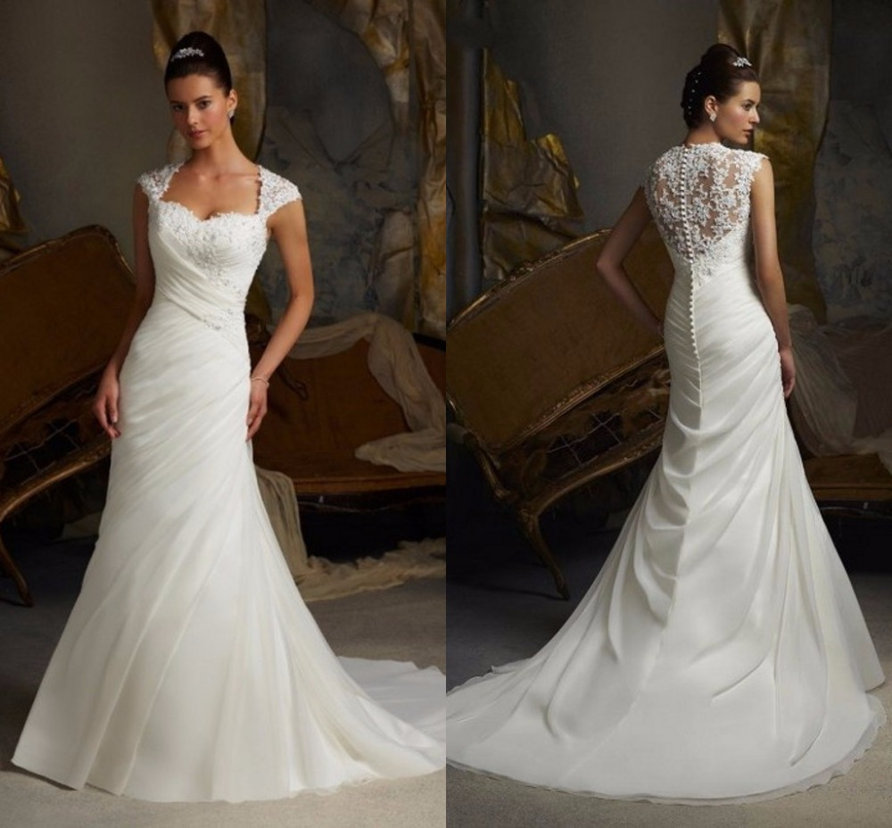 Buy romantic sexy sweetheart chiffon for Beaded lace mermaid wedding dress