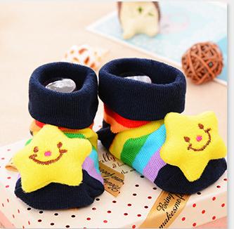 Cartoon slip newborn baby girl socks infant baby boy toddler child learning child walking socks cotton socks wholesale