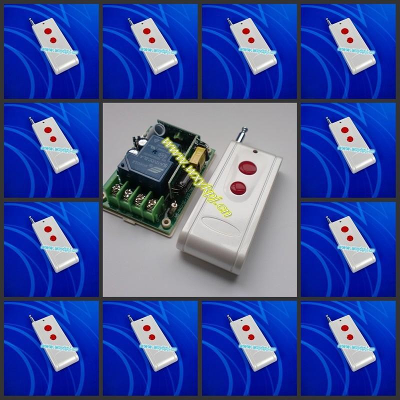 AC85V 110V 220V 240V 250V 30A 1CH 1000m RF Wireless Remote Control System1Receivers&12Transmitter For Control Garage Doors Gates(China (Mainland))
