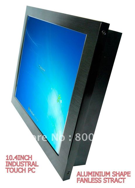 pos system 10.4 inch all-in-one finger touch pc with fanless design/ATOM 270 CPU pos machine