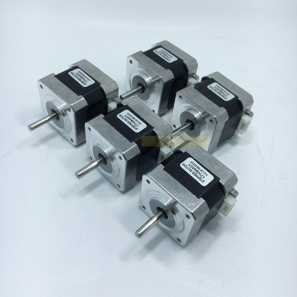 Free shipping 5pcs 4-lead Nema17 Stepper Motor 42 motor Nema 17 motor 42BYGH 1.7A (17HS4401) motor for CNC XYZ