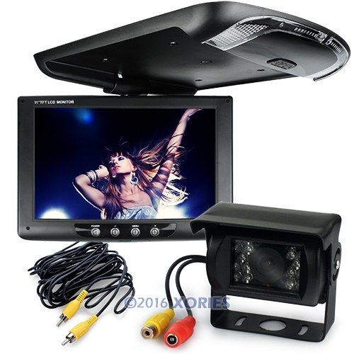 "12V Car Rear View System 9"" LCD Monitor 2CH + Night Vision Camera For Truck/Van(China (Mainland))"