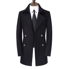 Mens new arrival Male woolen trench outerwear double breasted overcoat very large coat plus size XXL 3XL 4XL 5XL 6XL 7XL 8XL 9XL(China (Mainland))