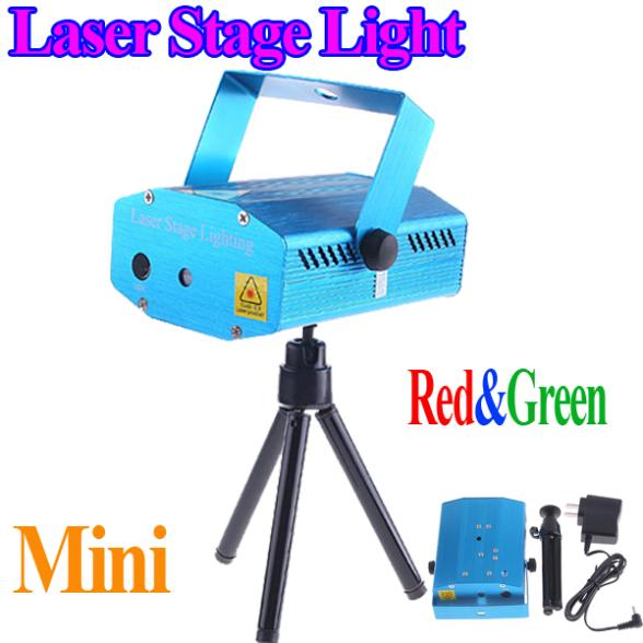 150mW Green & Red mini DJ Party Laser Stage Light Lighting AC 110-240V Open-herding Projector with Tripod & Retail wholesale(China (Mainland))