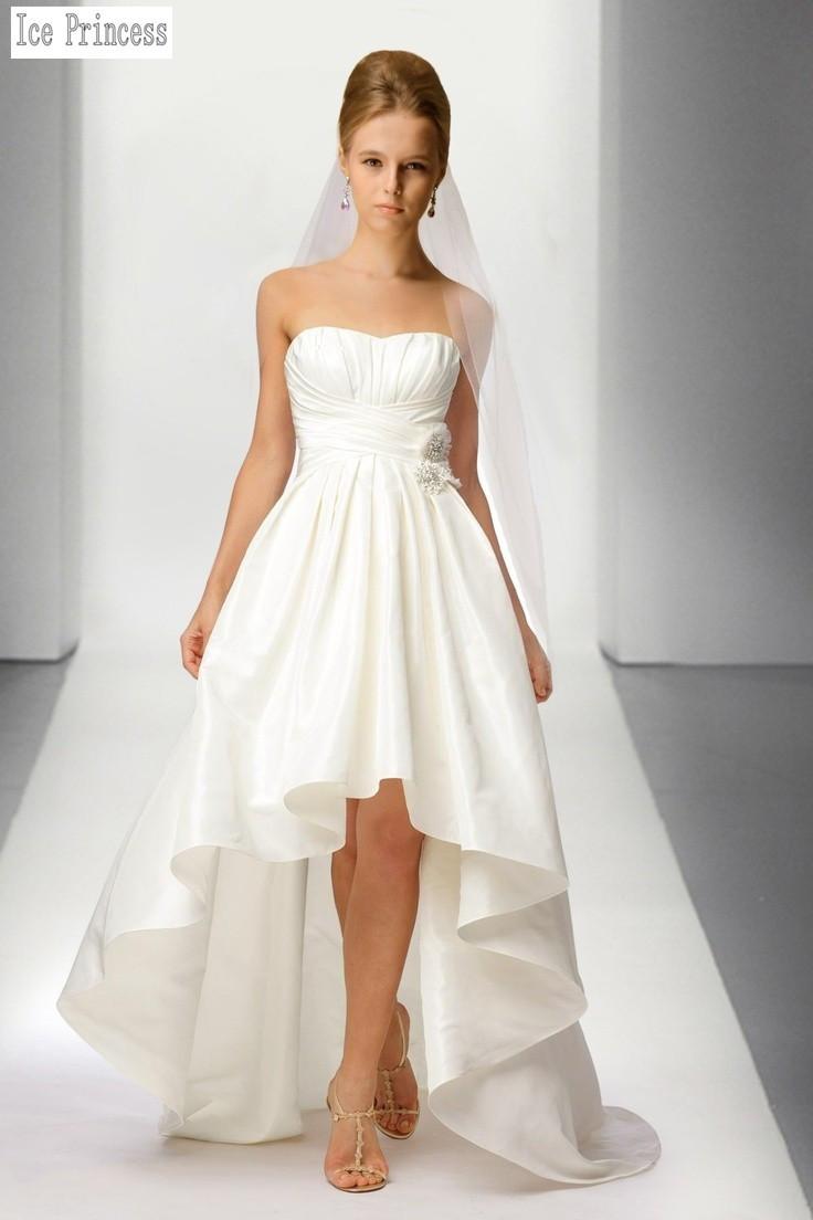 Custom made western style strapless satin elegant under for 20 dollar wedding dresses