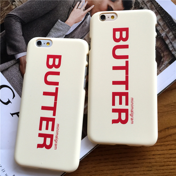 2016 Promotion Limited Brand Fashion Luxury Logo Butter Matte Hard Phone Case Cover Coque Fundas Capa For Iphone 5 5s 6 6s Plus(China (Mainland))