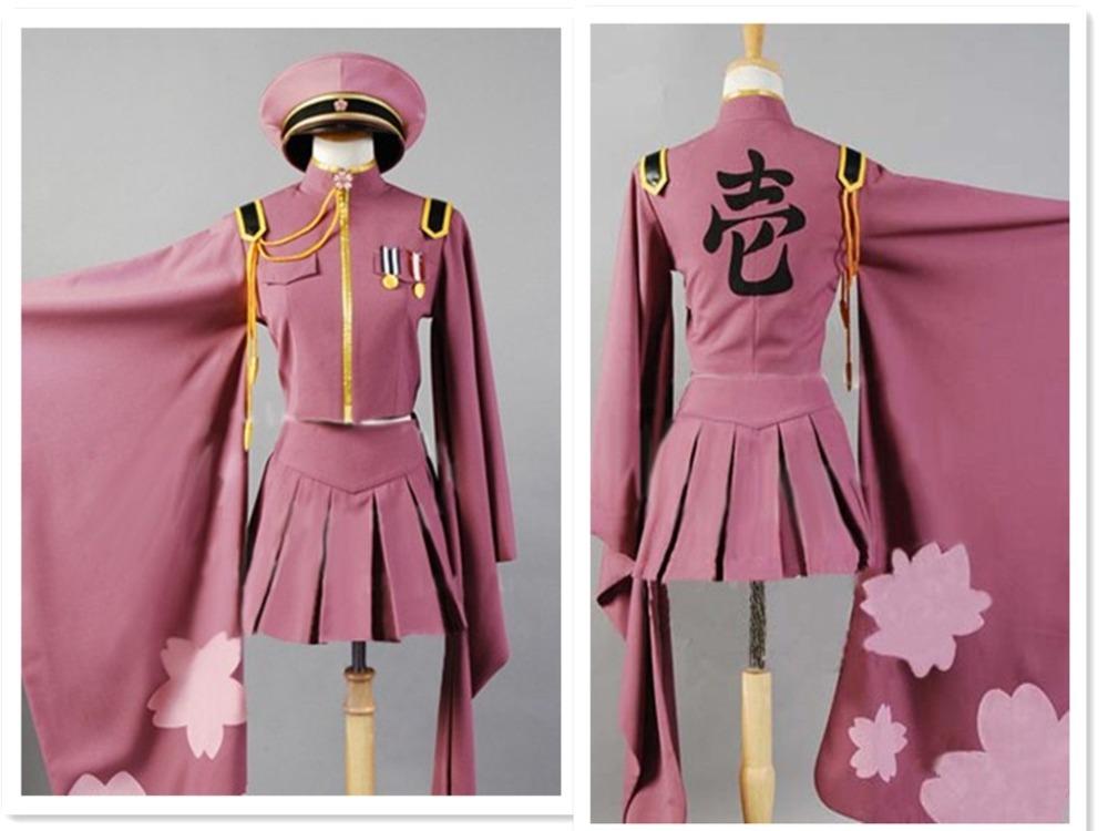 Senbonzakura Vocaloid Cosplay Costumes Hatsune Miku Full Set Uniforms (Top + Skirt Cap Socks Gloves) - Your Fashion Wardrobe ! store