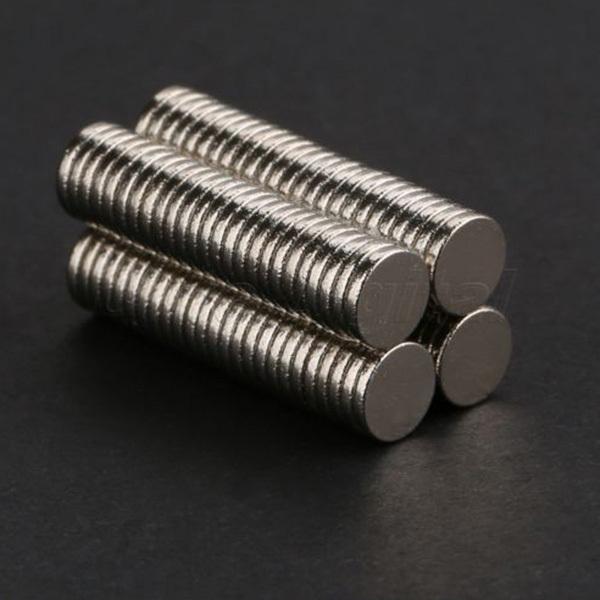Гаджет  100 pcs 5mm x 1mm Disc Rare Earth Neodymium Super Strong Magnets N35 Craft Model None Строительство и Недвижимость