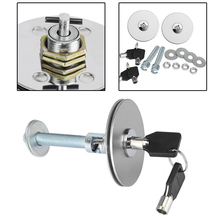 Engine hood locks Silver Auto Round Aluminum Mount Bonnet Hood Lock Pins Kit Locks Cover With Keys(China (Mainland))