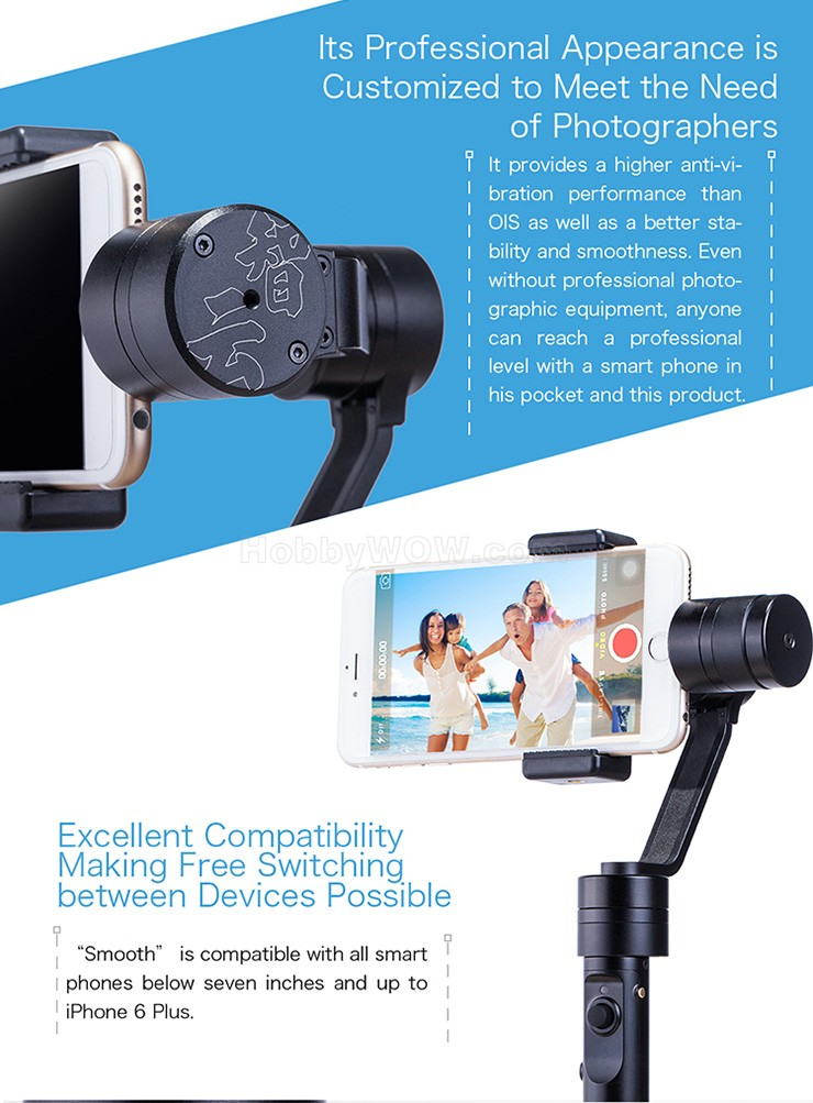 Zhiyun Upgraded Z1 Smooth-C Smooth C+ 3-Axis Brushless Handle Gimbal Stabilizer for SmartPhone