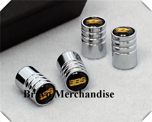 4caps set cars accessaries wheel tire tyre valve caps lengthened covers with bbs car logo brands