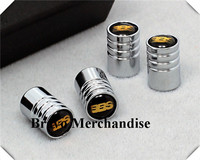 4caps/set cars accessaries  wheel tire tyre valve caps lengthened covers with bbs car logo brands emblem badge