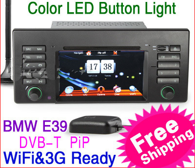 "KS1139 6.2"" 2 din HD Car DVD Player Vehicle GPS for BMW E39 X5 E53 M5  Units Equipment IPOD TV WiFi 3G canbus radio FREESHIPPING"