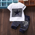 Baby boy clothes print summer infant girl clothes sets t shirt Medium pants suit baby clothing